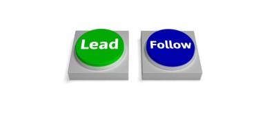 Lead Follow Buttons Shows Leading or Following by Stuart Miles courtesy of FreeDigitalPhotos.net