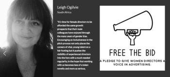 Leigh Ogilvie and Free The Bid logo