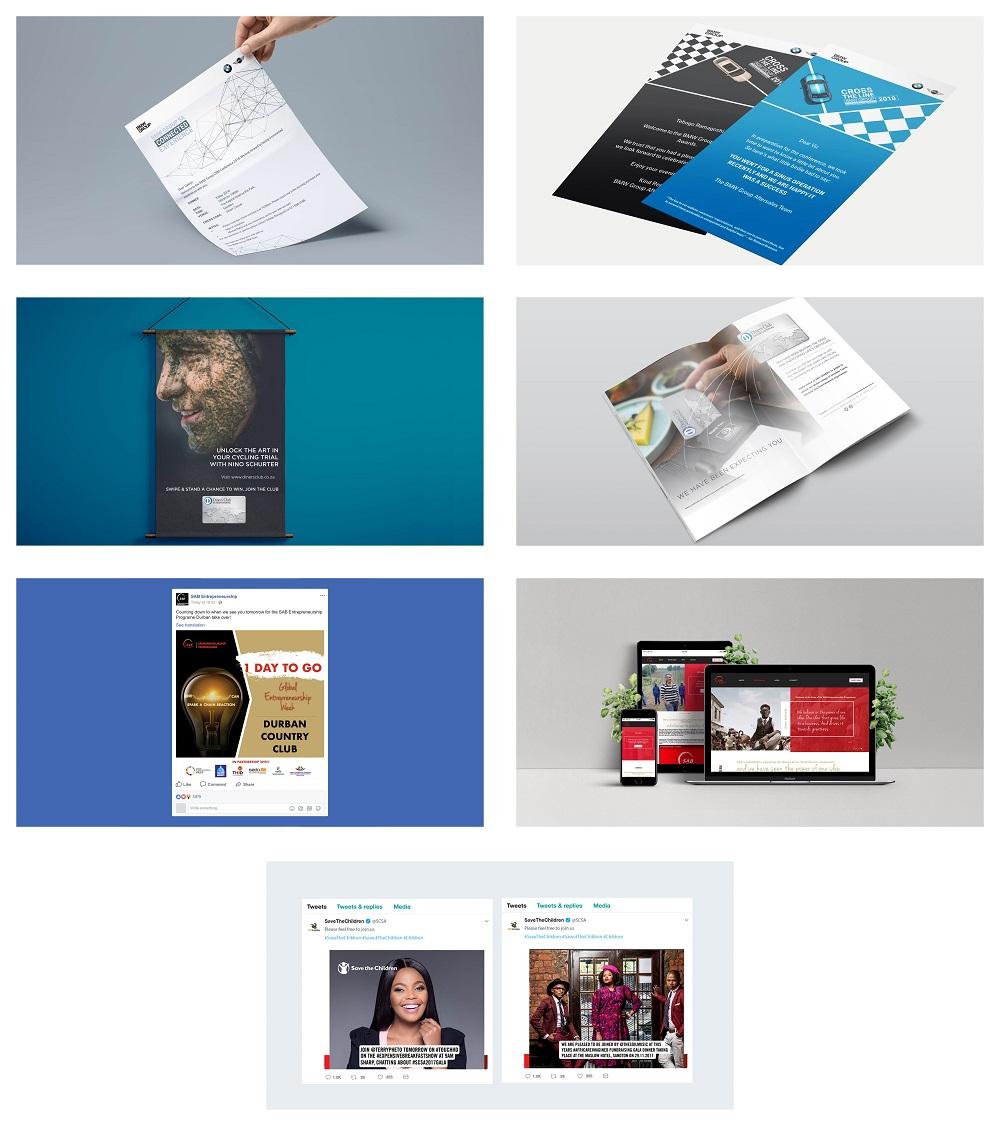 Leratadima client work collage