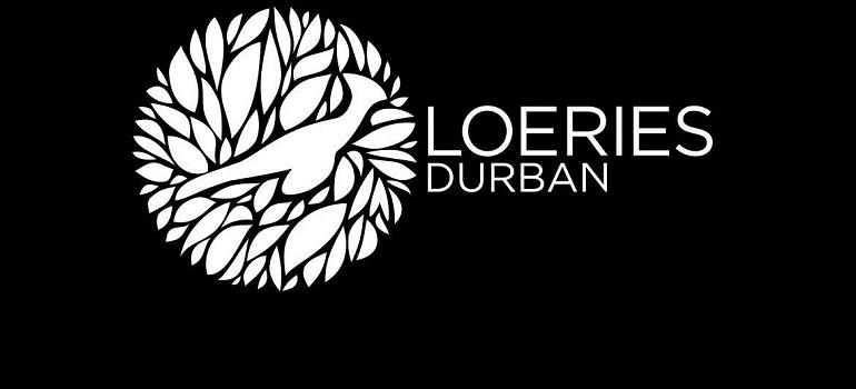Loeries Durban logo white on black slider