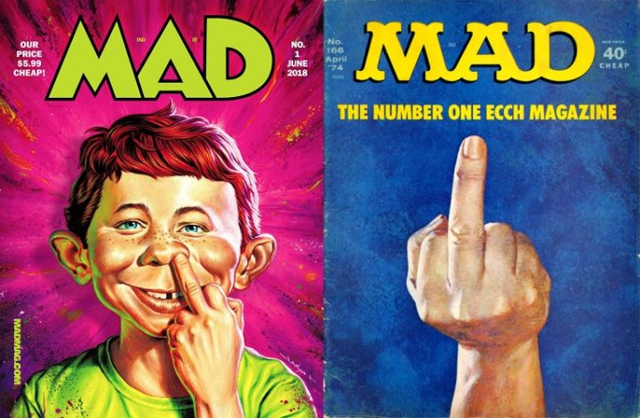 MAD magazine, issue 1 June 2018, and issue 166 April 1974