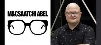 M&C Saatchi Abel logo and Dustin Chick