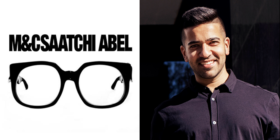 M&C Saatchi Abel logo and Faheem Chaudhry