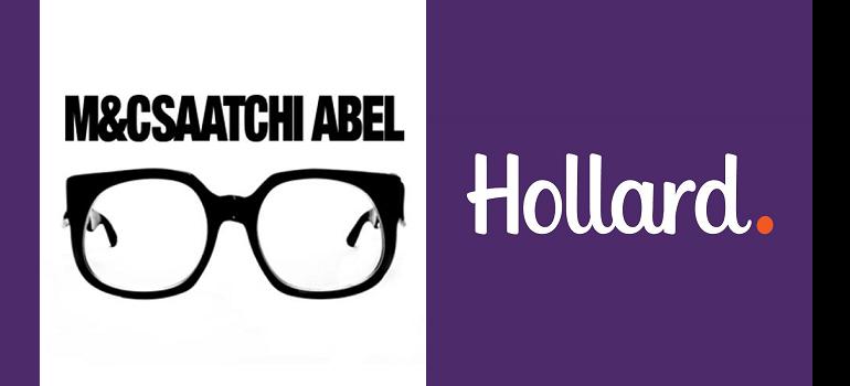 M&C Saatchi Abel logo and Hollard logo