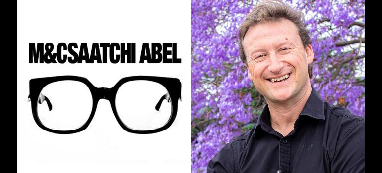 M&C Saatchi Abel logo and James Cloete