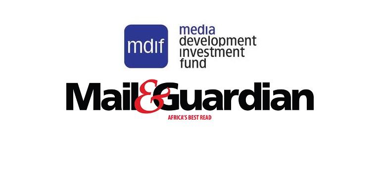 MDIF logo and Mail & Guardian logo