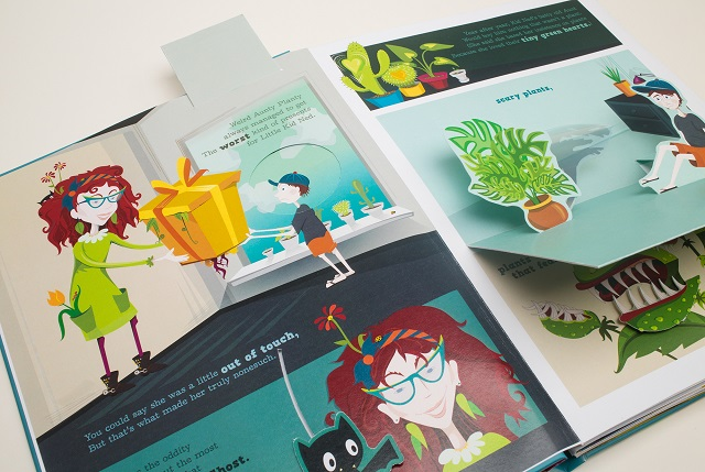Machine — Prima pop-up book 'Aunty Planty and the Search for the Perfect Toy'