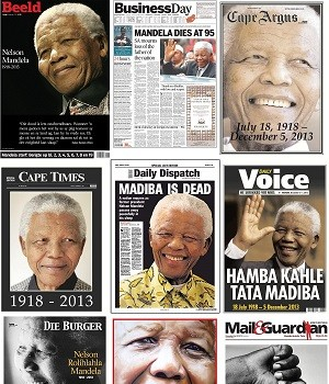 Madiba front page collage 6 December 2013