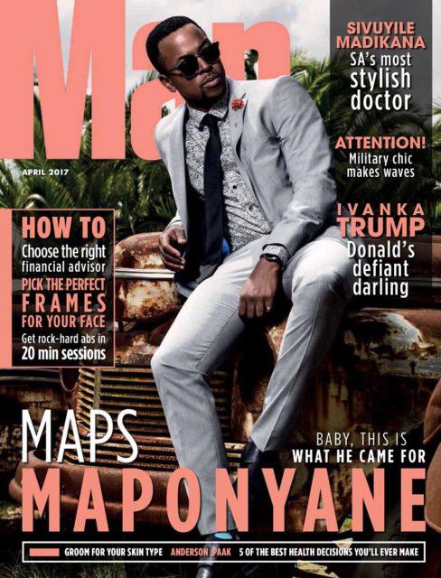 Man, April 2017: Maps Maponyane