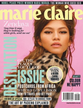 Marie Claire South Africa, November 2018 - Zendaya