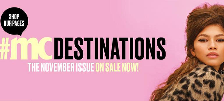 Marie Claire South Africa November 2018 issue - Facebook cover image