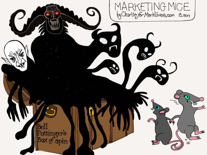Marketing Mice 2017 08 18 Bell Pottinger box of spin - cartoon