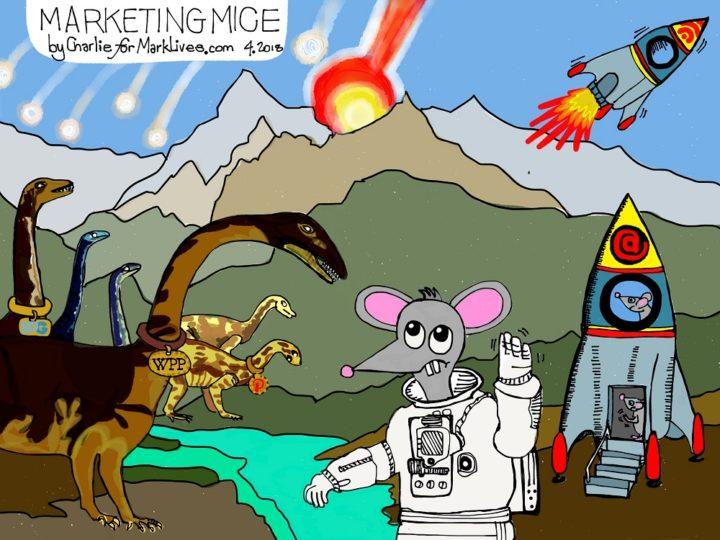 Marketing Mice 2018 04 11 Advertising apocalypse - cartoon