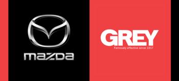 Mazda logo and Grey logo