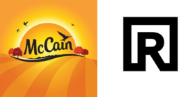 McCain logo and Riverbed logo