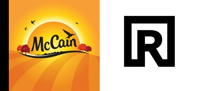 McCain logo and Riverbed logo