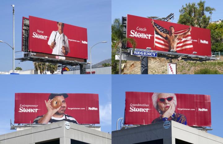 MedMed #ForgetStoner billboard collage