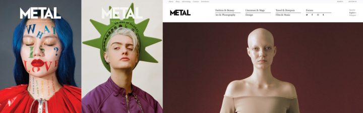 Metal Magazine, print and online, Issue 39 Spring Summer 2018