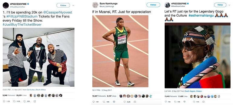 Most retweeted SA tweets 2017