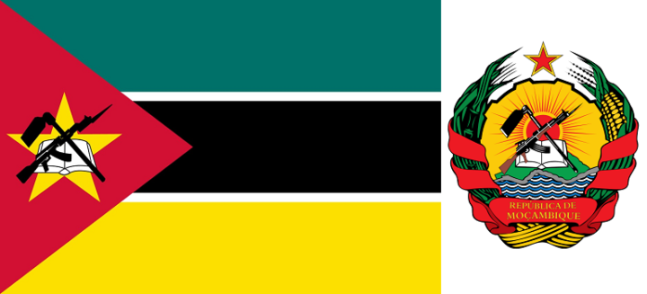 Mozambique flag and emblem
