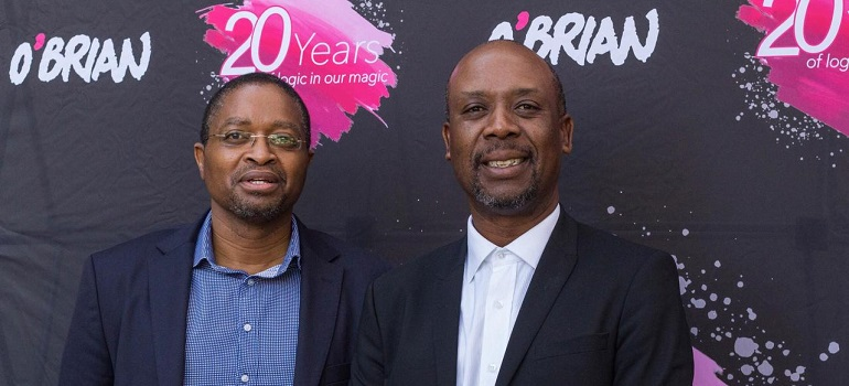 O'Brian: Mxolisi Evan Tyawa, founder and CEO, and Madoda Dhlamini, founding creative director