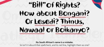 Nando's Bill of Rights #rightmyname