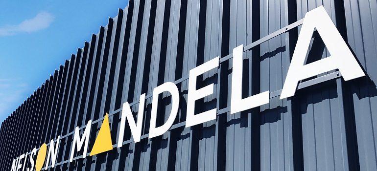 Nelson Mandela University logo exterior