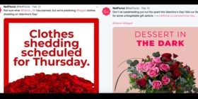 Netflorist tweets about Eskom just before Valentine's Day