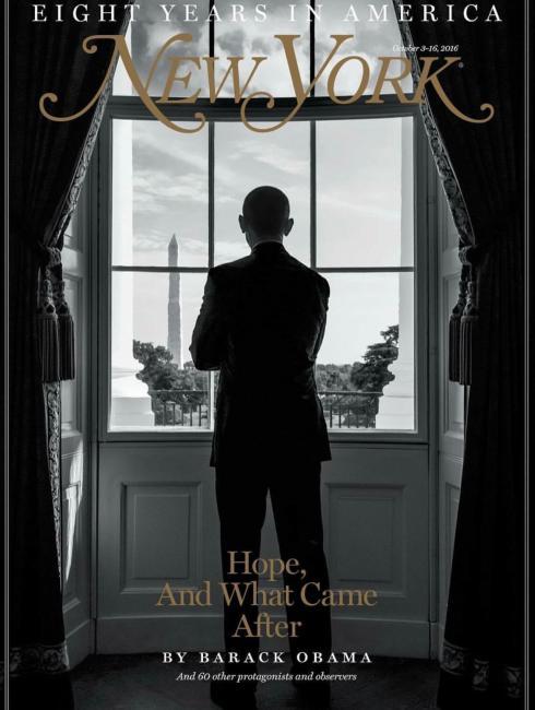 New York magazine, 3 October 2016: Barack Obama