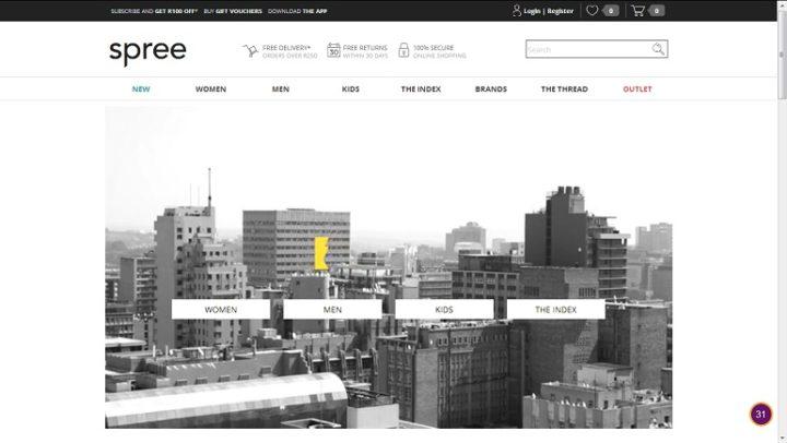 New-look Spree homepage