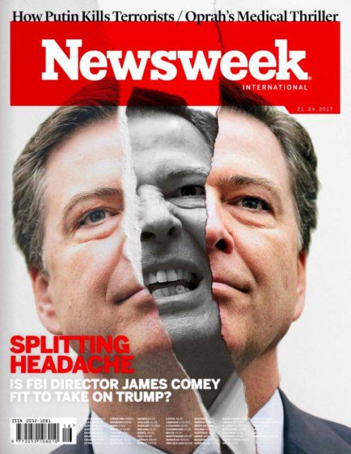 Newsweek, 21 April 2017: James Comey