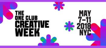 One Show Facebook cover image for Creative Week 2018