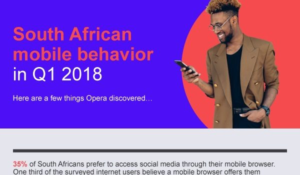 Opera infographic - South African mobile behaviour Q1 2018