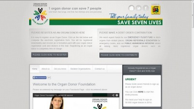 Organ Donor Foundation homepage