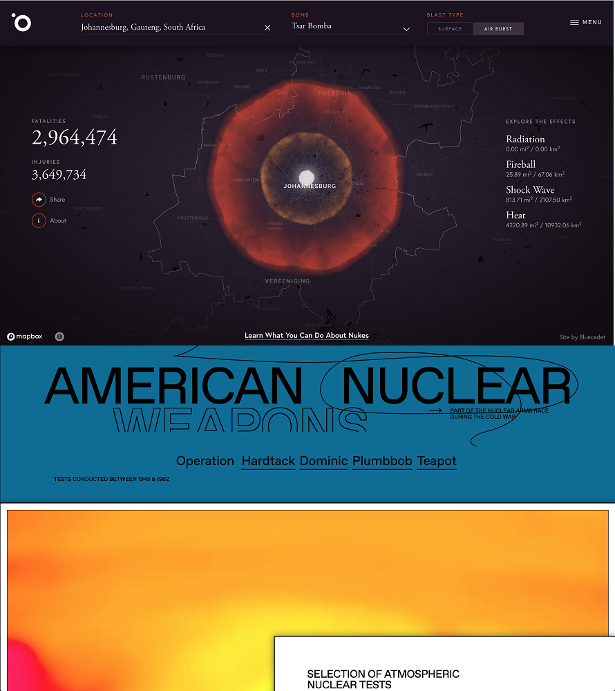 Outrider Bomb Blast, July 2018 and Nuclear Tests, July 2018