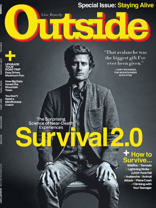 Outside, Staying Alive Issue, August 2017 - Cory Richards