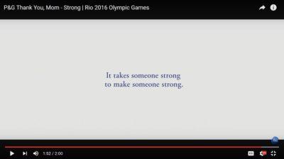 P&G Thank you Mom Rio 2016 Olympics
