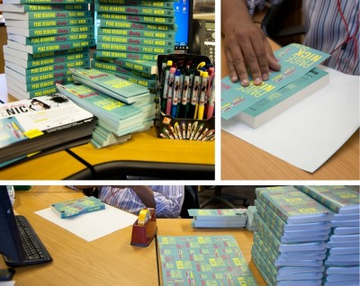 Pens Behaving Badly wrapping paper for promotional copies