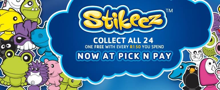Pick n Pay Stikeez Facebook cover image