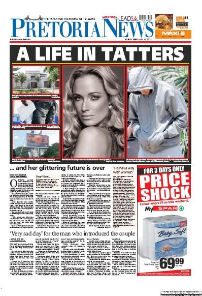 Oscar Pistorius front pages