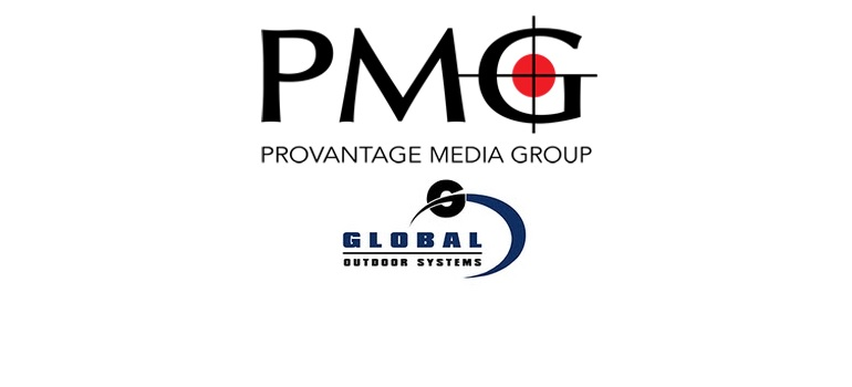 Provantage Media Group logo and Global Outdoor Systems logo