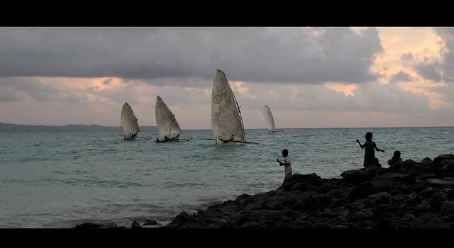 Prudential's The Fisherman TVC screengrab: fishing fleet at sea