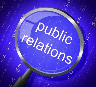 Public Relations Means Press Release And Magnification stock image by Stuart Miles at FreeDigitalPhotos.net