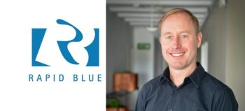 Rapid Blue logo and Donald Clarke
