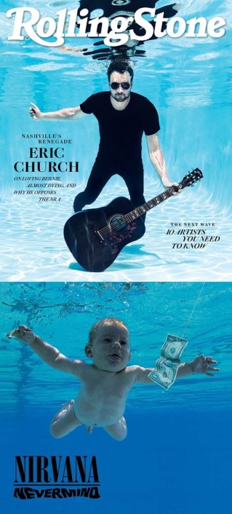 Rolling Stone, August 2018 -Eric Church - and Nevermind by Nirvana