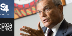 S4 Capital logo, MediaMonks logo and Sir Martin Sorrell
