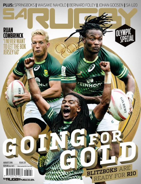 SA Rugby, August 2016