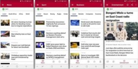 SANewsLive screengrabs