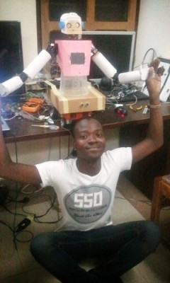 Sam Kodo with robot