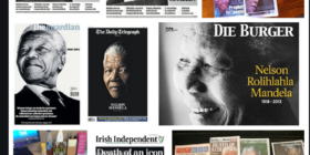 Screengrab Twitter Search Mandela front pages